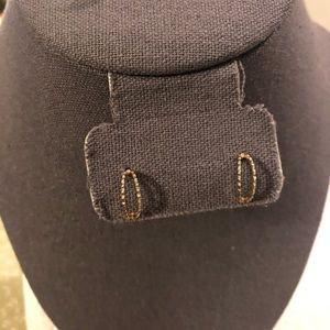 Twisted Gold Half Hoops
